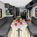 Shasta Travel Trailer Toy Hauler Interior
