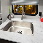 Stainless steel sink and sprayer